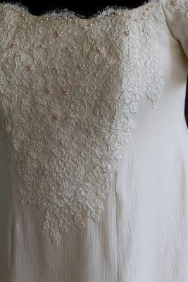 handwoven, couture-sewn wedding dress