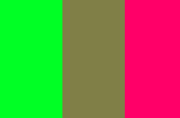 Color Wheel Magenta And Green Averaged Into A Grayish