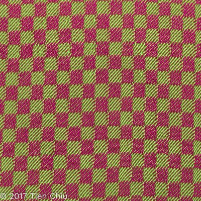 magenta and green twill blocks
