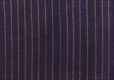 purple and lime green sample, 1-3 twill with black weft