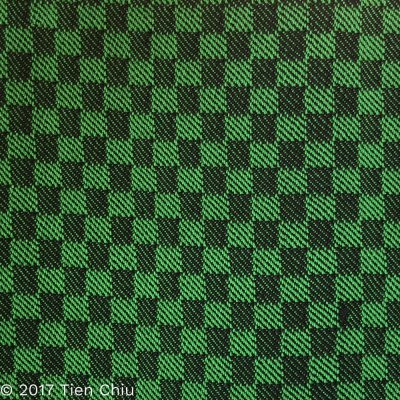 green and black, 1/3 vs. 3/1 twill bliocks