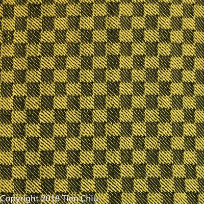handwoven cloth - yellow and black - twill blocks