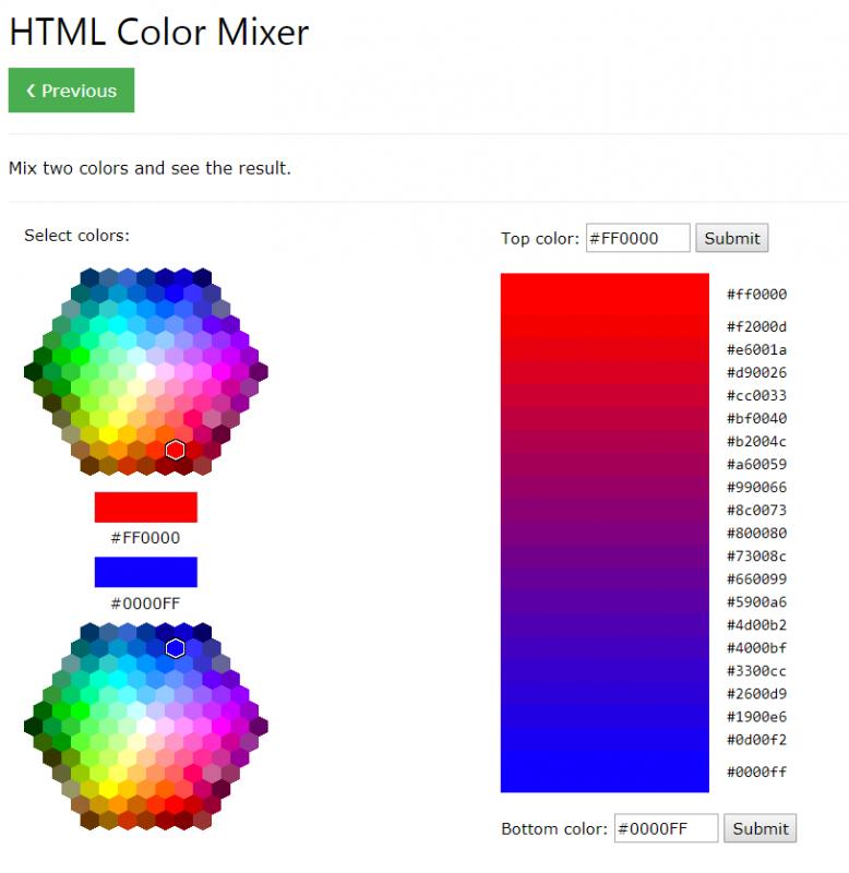 online color mixer