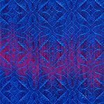 smaller version of handwoven swatch with blue against blue-purple