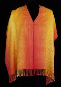 """""""Liquid Fire"""" shawl"""