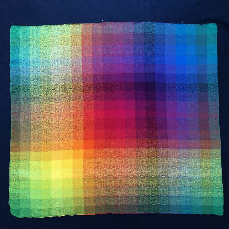 Color gamp, woven and photographed by Robert Breitzmann.