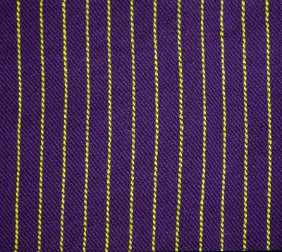 lime green and purple fabric, very narrow lime green stripes