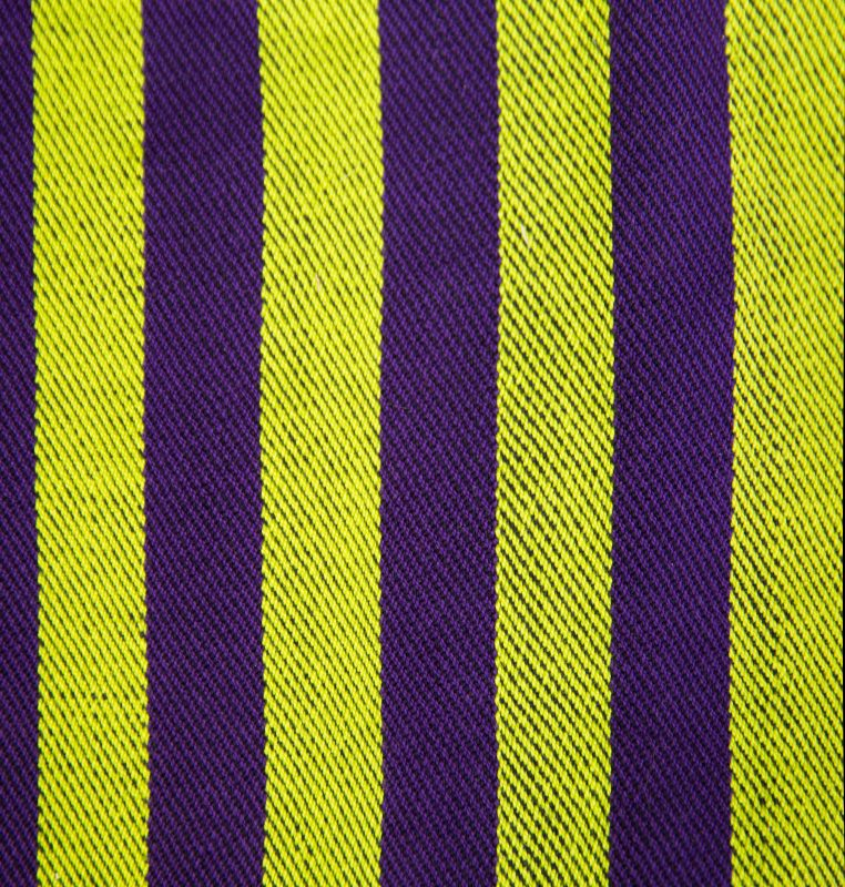 wide striped lime green and dark purple swatches