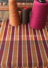 yarns on cloth