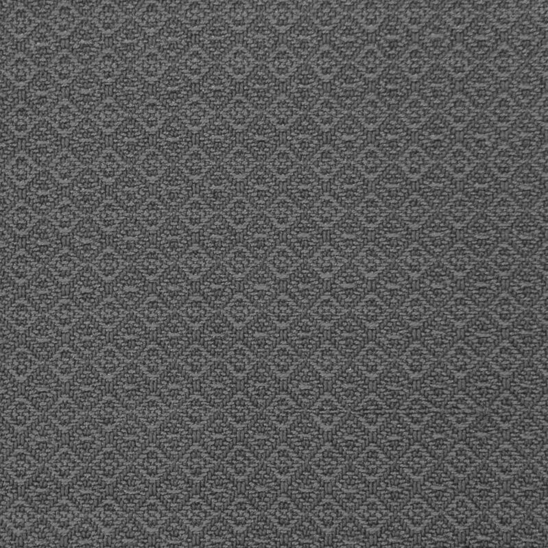 Black and white photo of the same swatch. The swatch is almost flat gray.