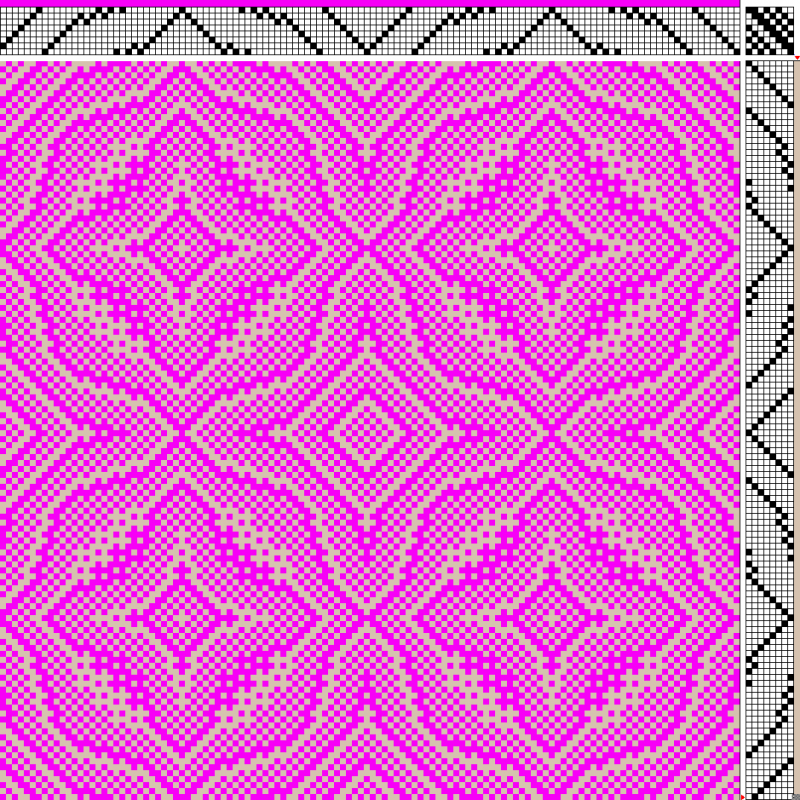 magenta and beige cloth (low saturation weft)