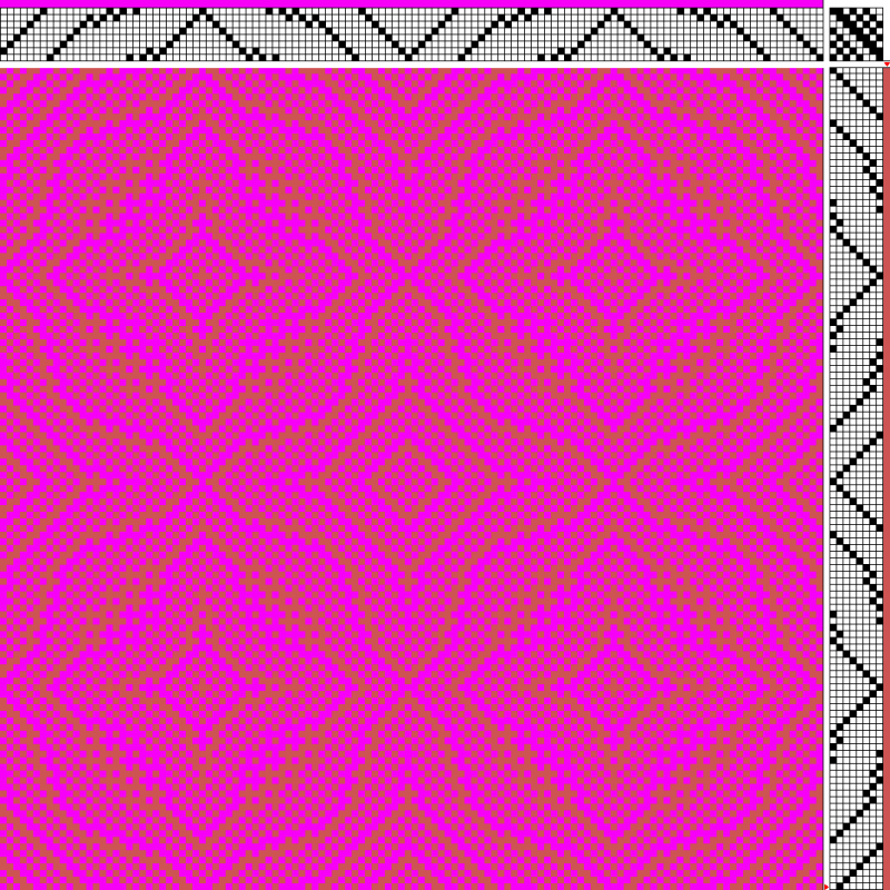 draft with low value contrast, showing a subtle pattern