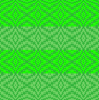 saturated and non-saturated striped draft