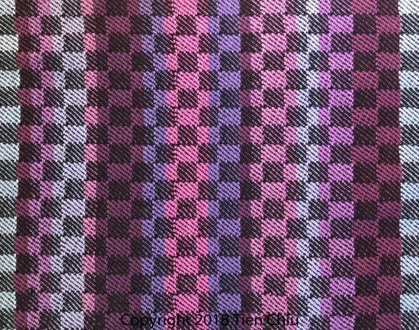 striped fabric woven in twill blocks