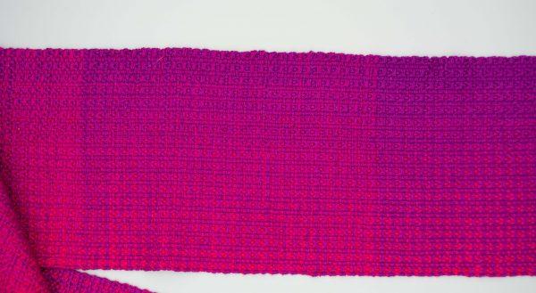 Bundled gradient scarf