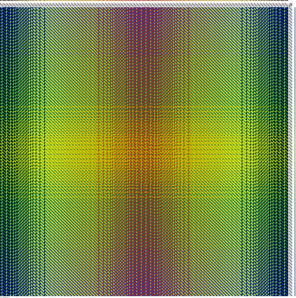 2-2 twill draft using the double gradient in warp and weft
