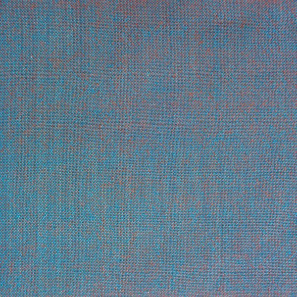 plain weave swatch woven with blue and orange yarns, appearing dull blue-gray
