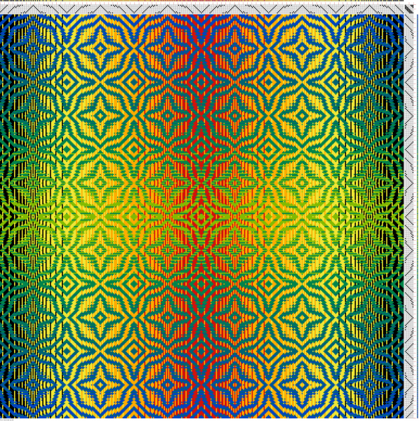 Draft #2 in double gradient pattern